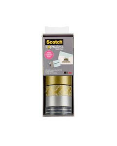 SCOTCH C317-4PK-SILG EXPRESSIONS WASHI TAPE ASSORTED PACK 4