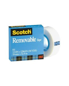 SCOTCH 811 REMOVABLE MAGIC TAPE REFILL 25.4MM X 65.8M