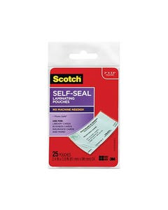 3M LS851 SELF LAMINATING POUCH FOR BUSINESS CARD/ID 61 X 98MM CLEAR PACK 25