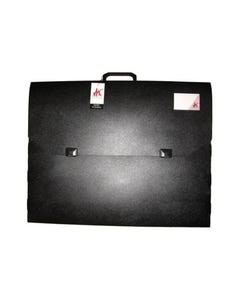 COLBY ART CARRY CASE PP EMBOSSED WITH HANDLE AND CLIP A2 BLACK