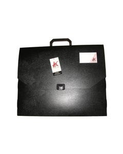 COLBY ART CARRY CASE PP EMBOSSED WITH HANDLE AND CLIP A3 BLACK