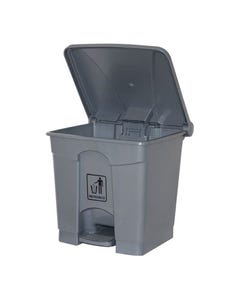 Cleanlink Rubbish Bin with Pedal Lid 45 Litre Grey