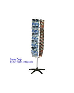 JPM ROTARY DISPLAY STAND SETUP ONLY 4 SIDED BLACK/SILVER