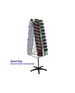 JPM ROTARY DISPLAY STAND SETUP ONLY 2 SIDED SILVER