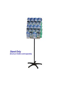 JPM ROTARY DISPLAY STAND SETUP ONLY 3 TIER 2 SIDED SILVER