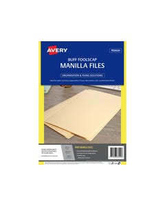 AVERY 88200 MANILLA FOLDER FOOLSCAP BUFF PACK 20