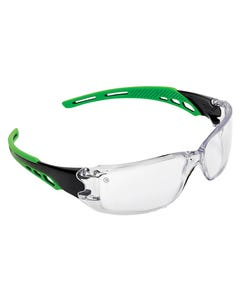 Pro Choice® Cirrus Green Arms Safety Glasses Clear A/F Lens 9180