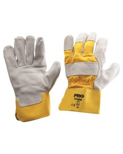 Pro Choice® Yellow/Grey Leather Gloves Large 940GY