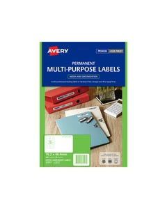 AVERY 959023 L7671 VIDEO FACE LABEL LASER WHITE PACK 300