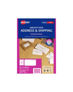 AVERY 959329 L7159 ADDRESS LABEL SMOOTH FEED LASER 24UP WHITE PACK 100