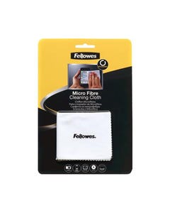 FELLOWES SURFACE CLEANING MICROFIBRE CLOTH 220 X 150MM WHITE
