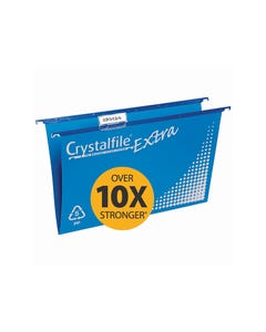 CRYSTALFILE EXTRA SUSPENSION FILES FOOLSCAP PP BLUE PACK 20