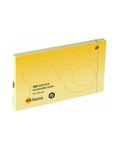 MARBIG REPOSITIONAL NOTES 100 SHEET 75 X 125MM YELLOW PACK 12
