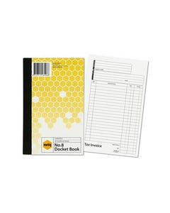 MARBIG TAX INVOICE DOCKET BOOK 50 LEAF 125 X 200MM