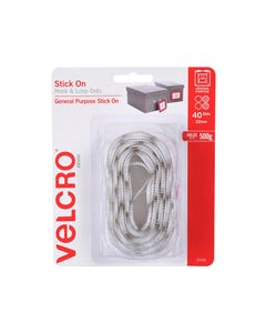 VELCRO BRAND STICK-ON HOOK AND LOOP DOTS 22MM WHITE PACK 40