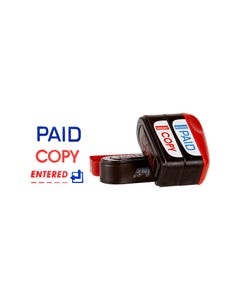 DESKMATE MULTI STAMP STACKER PAID-COPY-ENTERED PACK 3