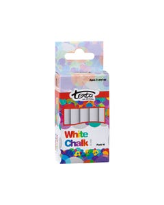 TEXTA CHALK DUSTLESS WHITE PACK 10