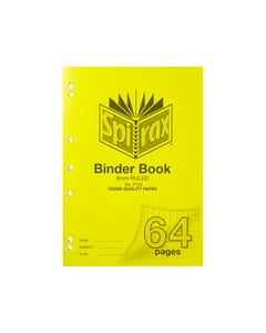 SPIRAX P120 BINDER BOOK 8MM RULED 70GSM 64 PAGE A4