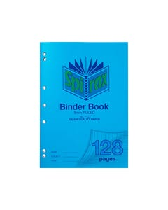 SPIRAX P127 BINDER BOOK 8MM RULED 70GSM 128 PAGE A4