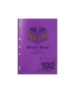 SPIRAX P128 BINDER BOOK 8MM RULED 70GSM 192 PAGE A4