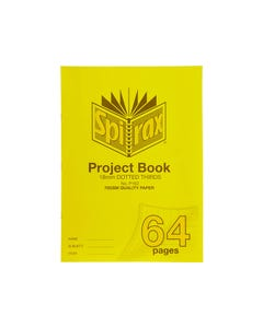 SPIRAX P162 PROJECT BOOK 18MM DOTTED THIRDS 70 GSM 64 PAGE 330 X 240MM