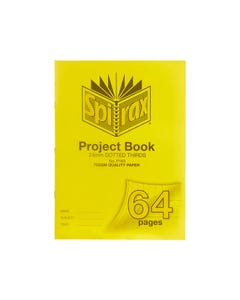 SPIRAX P163 PROJECT BOOK 24MM DOTTED THIRDS 70 GSM 64 PAGE 330 X 240MM