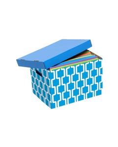 MARBIG ARCHIVE BOX PATTERNED BLUE/WHITE