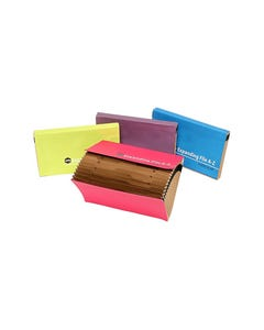 MARBIG EXPANDING FILE A-Z INDEX MANILLA FOOLSCAP SUMMER ASSORTED