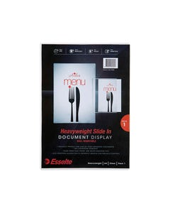 ESSELTE WALL MOUNT DOCUMENT DISPLAY A4 CLEAR
