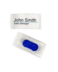 REXEL NAME BADGE PRINTABLE MAGNETIC CLOSURE PACK 2