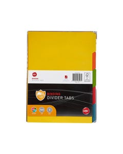 GBC TAB UNPUNCHED DIVIDERS 5-TAB A4 COLOUR