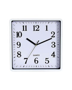 CARVEN WALL CLOCK SQUARE 250MM WHITE FRAME