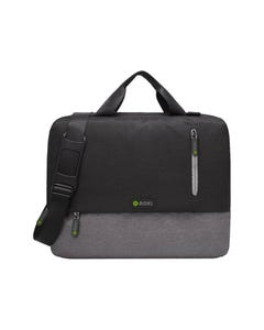 MOKI ODYSSEY LAPTOP SATCHEL 15.6 INCH BLACK/GREY