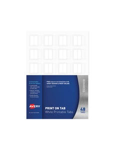 AVERY 5412561 L7431 PRINT ON TABS WHITE PACK 48