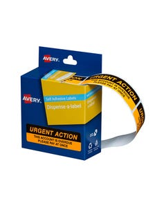 AVERY 937259 MESSAGE LABELS URGENT ACTION 19 X 64MM BOX 125