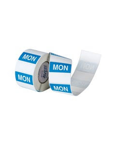 AVERY 937336 REMOVABLE DAY LABEL MONDAY 40 X 40MM BLUE/WHITE BOX 500