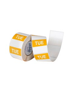 AVERY 937337 REMOVABLE DAY LABEL TUESDAY 40 X 40MM YELLOW/WHITE BOX 500