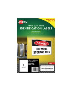 AVERY 959067 L7067 HEAVY DUTY LASER LABELS 1UP WHITE PACK 25