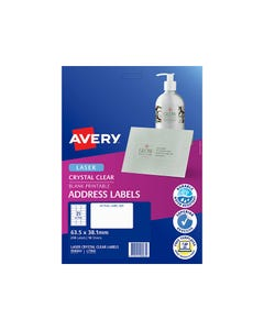 AVERY 959072 L7171B LASER LABELS LEVER ARCH 4UP BLUE PACK 10