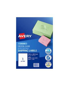 AVERY 959073 L7171G LASER LABELS LEVER ARCH 4UP GREEN PACK 10