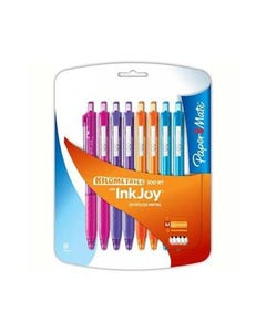 PAPERMATE INKJOY 300 RETRACTABLE BALLPOINT PEN 1.0MM ASSORTED FASHION PACK 8