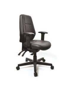 BURO AURA ERGO+ HIGH BACK CHAIR WITH ARMS DILLON PU BLACK