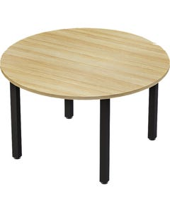 AXIS MEETING TABLE 1200MM BLACK FRAME NEW OAK TOP