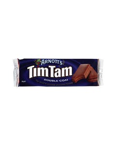 ARNOTTS CHOCOLATE TIM TAM BISCUITS DOUBLE CHOCOLATE 200GM