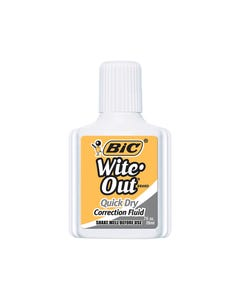 BIC WITE-OUT PLUS QUICK DRY CORRECTION FLUID 20ML