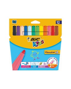 BIC KIDS VISACOLOR XL MARKER BULLET 4.5MM ASSORTED BOX 12