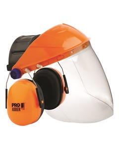 Pro choice Browguard with Clear Visor and Adder Earmuff Combo BGVCEADD