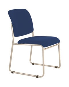 BURO MARIO VISITOR CHAIR STACKABLE LINKABLE JETT FABRIC DARK BLUE