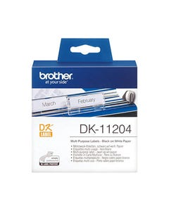 BROTHER DK-11204 LABEL ROLL 17 X 54MM WHITE ROLL 400