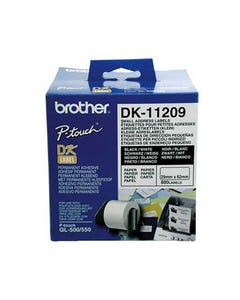 BROTHER DK-11209 LABEL ROLL 29 X 62MM WHITE ROLL 800